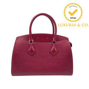 New Louis Vuitton Soufflot MM Epi Fuchsia Handbag